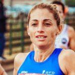 Athletes running marathon