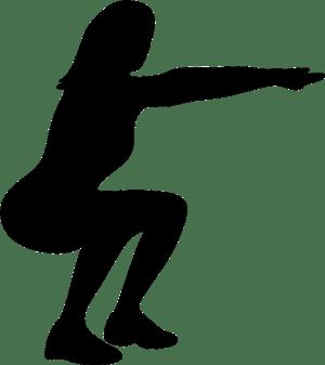 Woman doing squats illustration