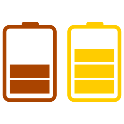 Red, yellow, and green batteries