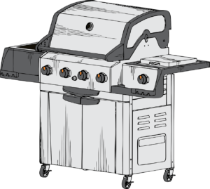 Assembled grill drawing