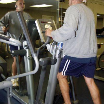 Small elliptical in gym
