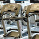 Treadmills in a row