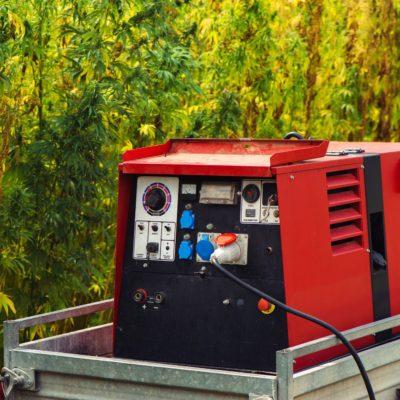 Electric power aggregate generator in industrial hemp field